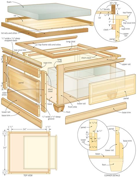 woodworking plan coffee table storage bench woodworking plans woodshop plans