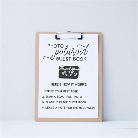 polaroid picture wedding guest book wedding polaroid guest book guestbook alternative by