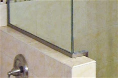 shower door u channel u channel for your shower doors