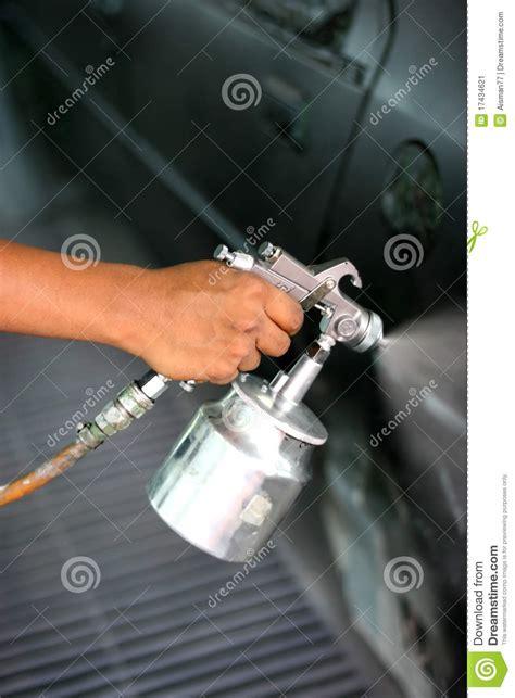 spray painting your gun with spray paint gun stock image image 17434621