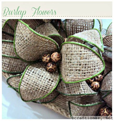 burlap craft projects burlap flowers rustic diy craft project great for