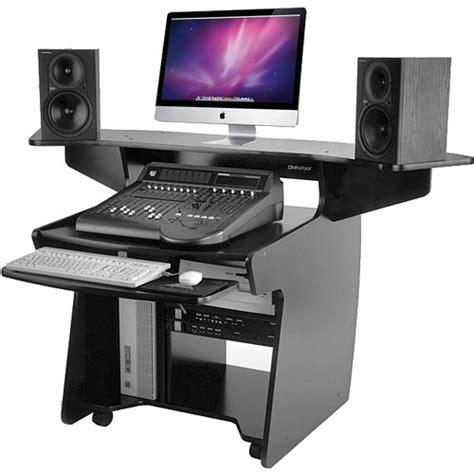 omnirax studio desk omnirax coda mixing and digital editing workstation desk