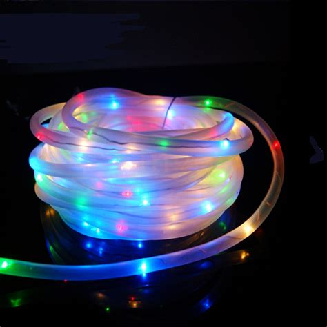 solar powered string lights 7m 50leds solar led string lights outdoor 6colors rope