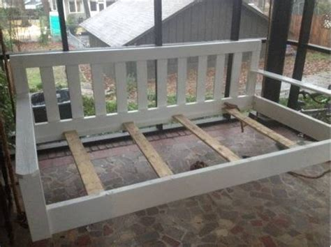swinging bed frame diy frame idea for daybed swing modify the sides arms