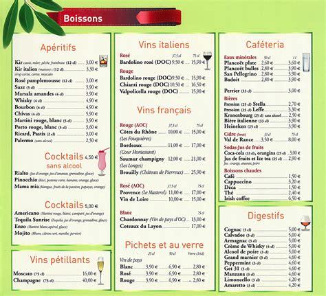restaurant pizz 233 ria 224 guing carte et menus