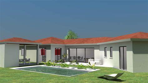 maison contemporaine lumineuse de plain pied 1 jpg 2 400 215 1 350 pixels maison