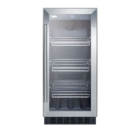 home refrigerator with glass door summit appliance 15 in 2 45 cu ft mini refrigerator