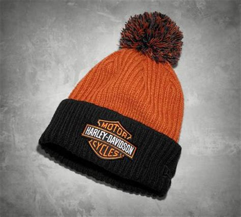 harley knit hat s knit hat with pom cold weather official harley