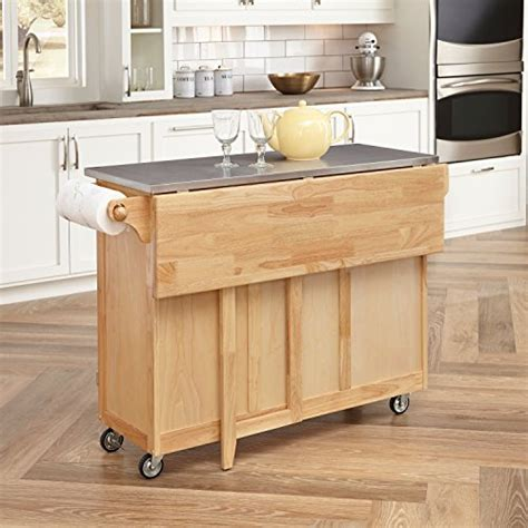 kitchen island cart with breakfast bar home styles 5086 95 stainless steel top kitchen cart with breakfast bar new ebay