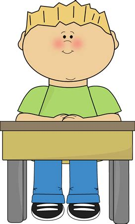 student in desk clipart student sitting at school desk card clip student