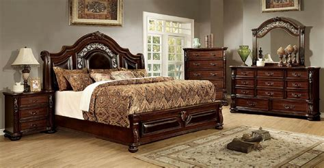 cherry finish bedroom furniture 4 flansreau bedroom set brown cherry finish usa
