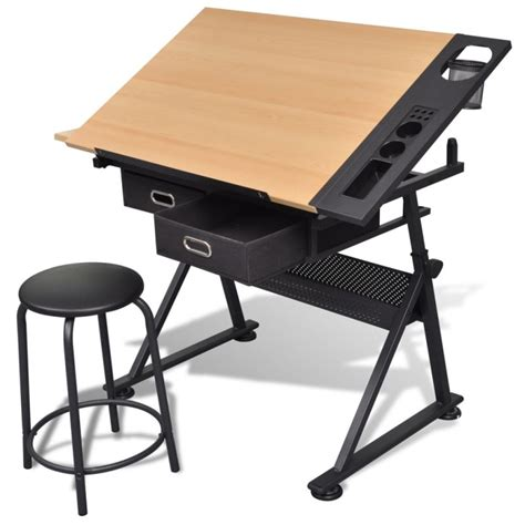 where can i buy a drafting table tilt drawing drafting table w 2 drawers stool buy