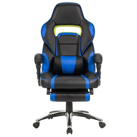 reclining office desk chair ergonomic high back racing reclining computer gaming