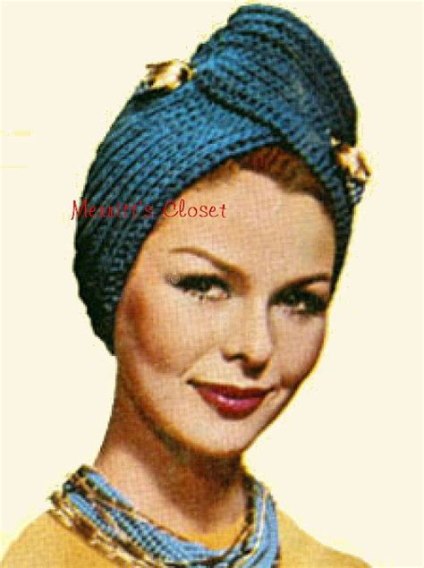 knitted turban pattern free instant pdf vintage pattern knitted turban wrap