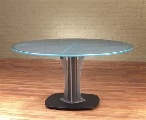 Oval Office Furniture 60 quot d meeting table modern round glass table stoneline