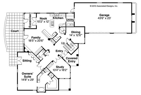mediterranean home floor plans mediterranean house plans pasadena 11 140 associated designs