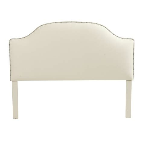 ballard design headboard camden untufted headboard with silver nailheads ballard