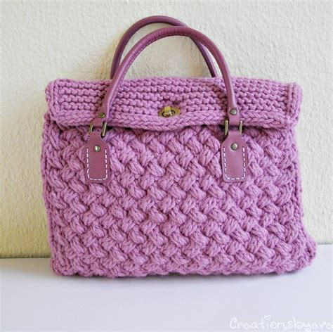 bag knitting pattern textured bag knitted with woven pattern by evelyn s craftsy