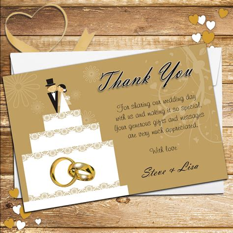 how to make wedding thank you cards 10 personalised cake topper wedding thank you cards n178