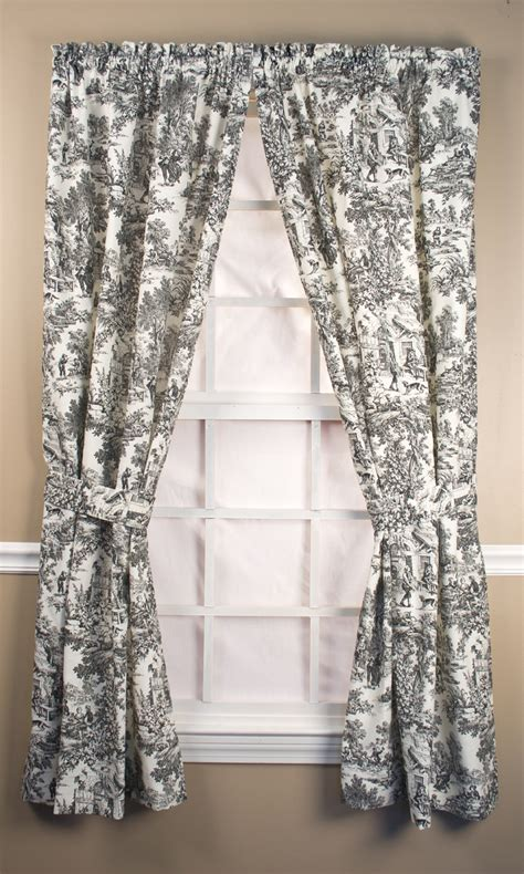 toile kitchen curtains the best 28 images of toile curtains insulated toile