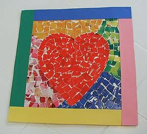paper mosaic crafts mosaic for s day crafts by amanda