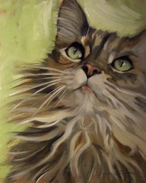 cat painting photos paintings from the fluffy maine coon type cat