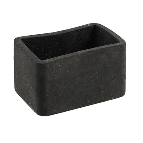 Chair For Foot by Table Chair Leg Black Rubber Rectangle 25mm X 38mm