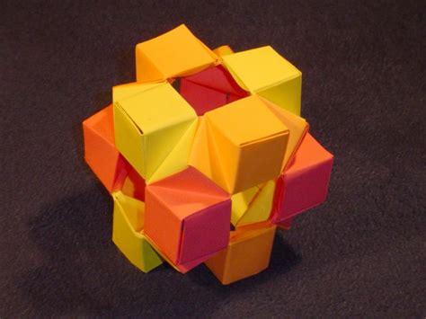 3d cube origami cube oxi module