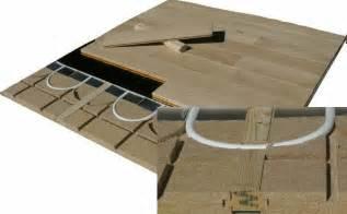 plancher chauffant sur plancher bois le plancher chauffant par caleosol
