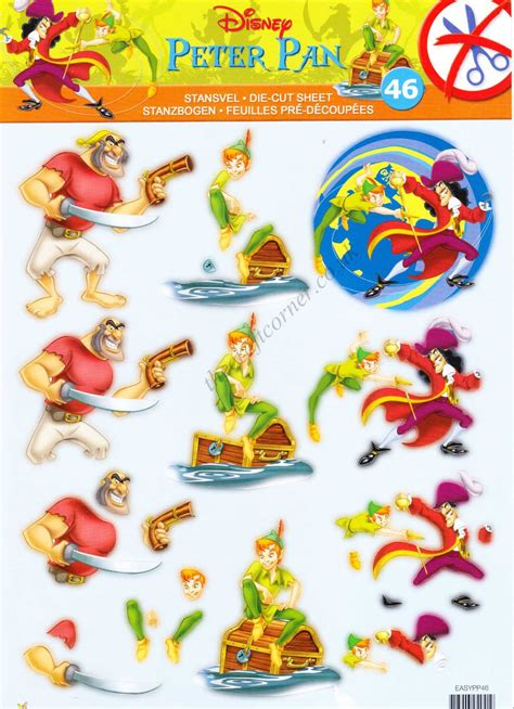 disney decoupage disney pan die cut 3d decoupage sheet