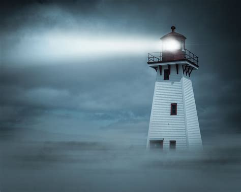 with pictures in how the light from lighthouses can be seen away