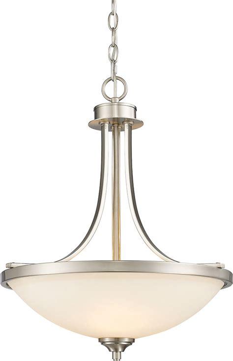 hanging light fixtures brushed nickel hanging light fixtures z lite 435p bn