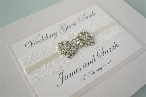 wedding picture guest book ivory wedding guest book with beautiful lace ribbon