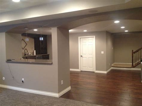 paint colors for basement walls finished basement sherwin williams mega griege home