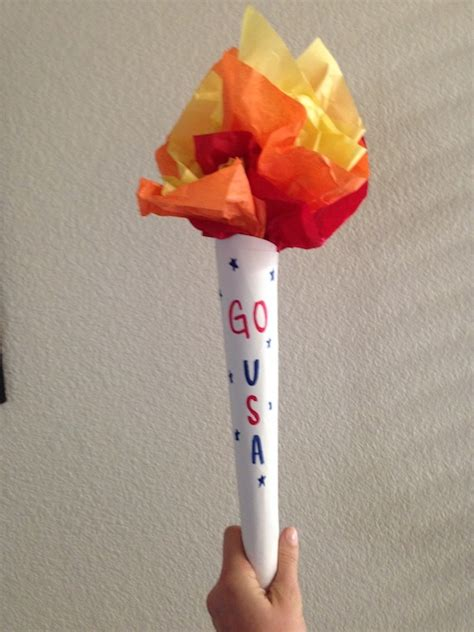 olympic crafts for olympic torch craft