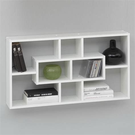 white wall mounted bookshelves decorative wall shelves in the modern interior best