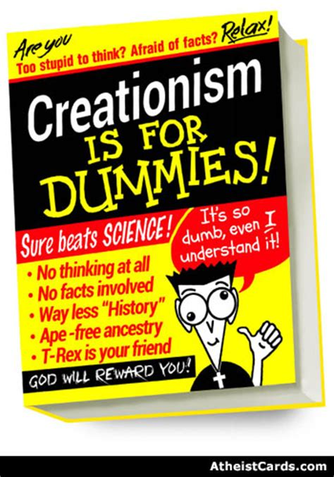 card for dummies creationism is for dummies atheist cards