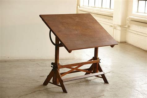 antique oak drafting table antique industrial american oak drafting table at 1stdibs