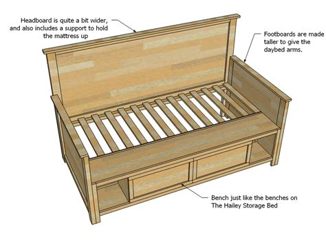 daybed woodworking plans free wood daybed plans with trundle