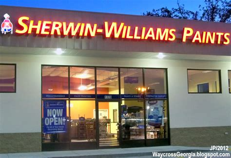 sherwin williams paint store to me waycross ware cty college restaurant bank hotel