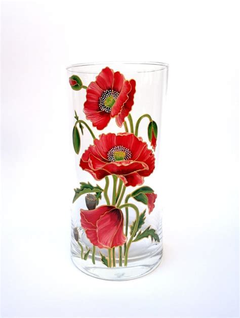 flower vase decoration home birthday gift for painted glass vase home decor