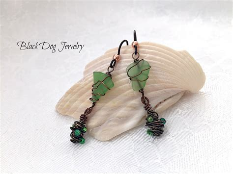 make sea glass jewelry green sea glass earrings jewelry journal