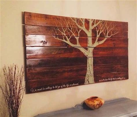 pallet crafts projects diy wooden pallet wall pallets designs