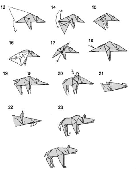 origami wolf step by step origami hyena 3d origami step by step