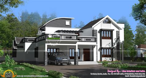 home designs kerala contemporary contemporary style mixed roof house kerala home design