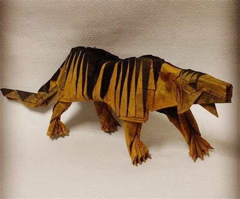 tiger origami 25 purr fect origami cats fur real i m not kitten
