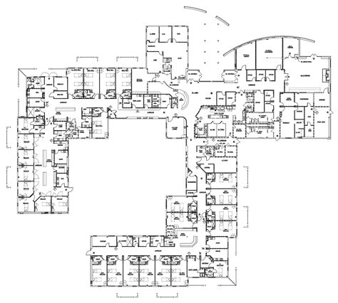 floor plan of a hospital precision constructors hospitals and healthcare facilities