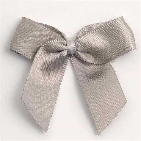 silver self adhesive satin ribbon satin bows favour this
