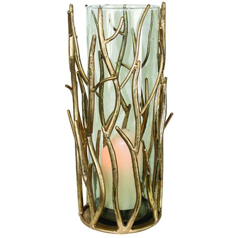 metal twig tree candle holder twig hurricane candle holder collection of 3 sizes