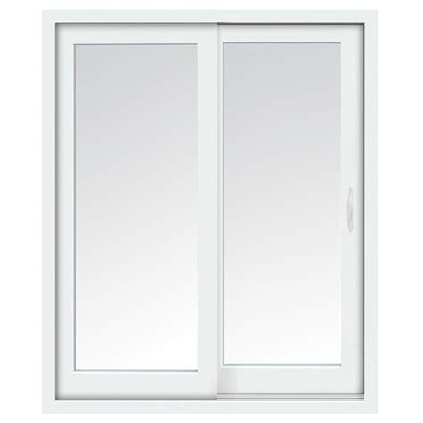sliding vinyl patio doors stanley doors 60 in x 80 in glacier white right